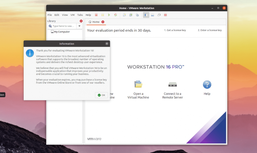 Descarga y configuración de VMware Workstation 16 [Guide]